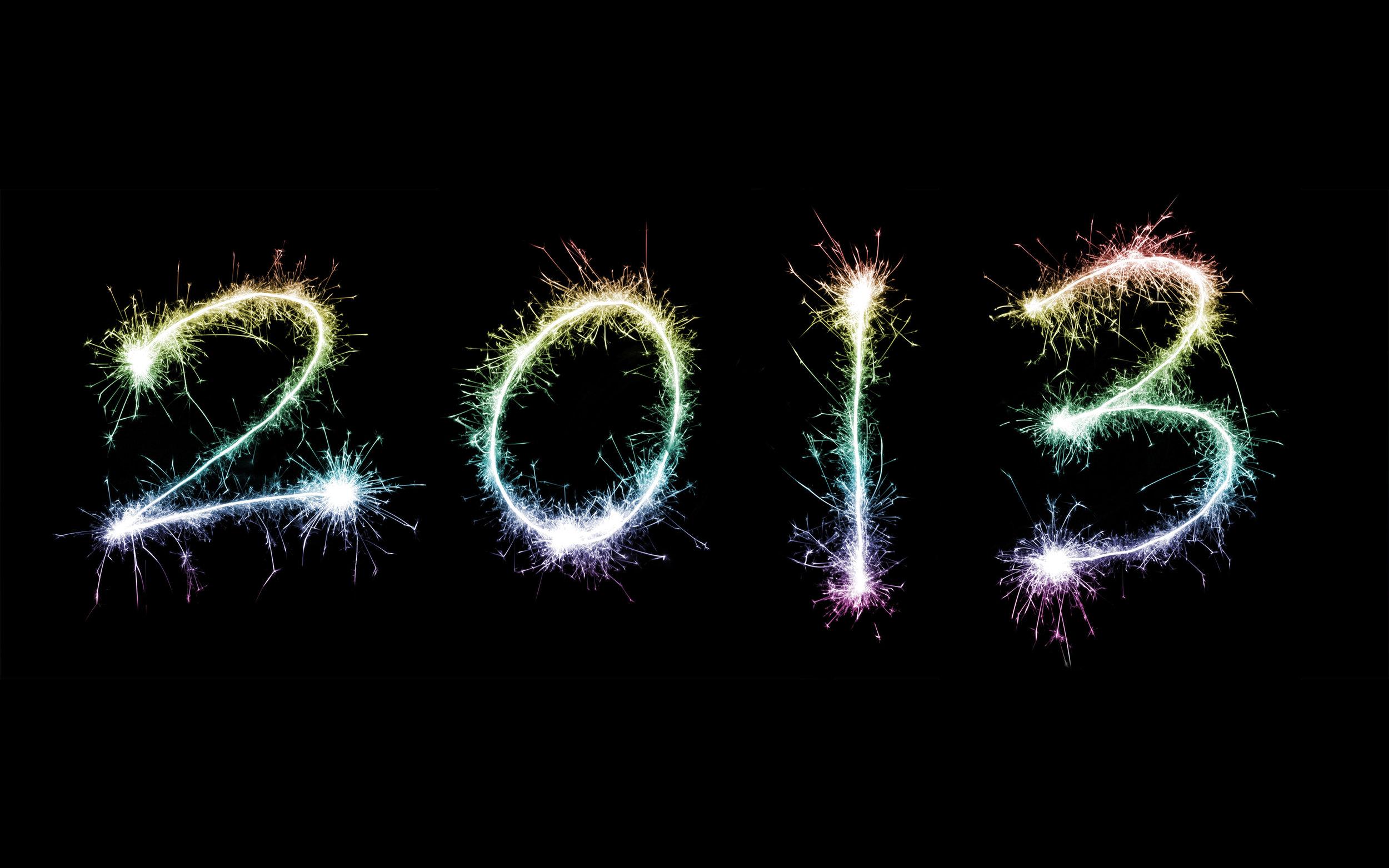 2013 new year sparkler