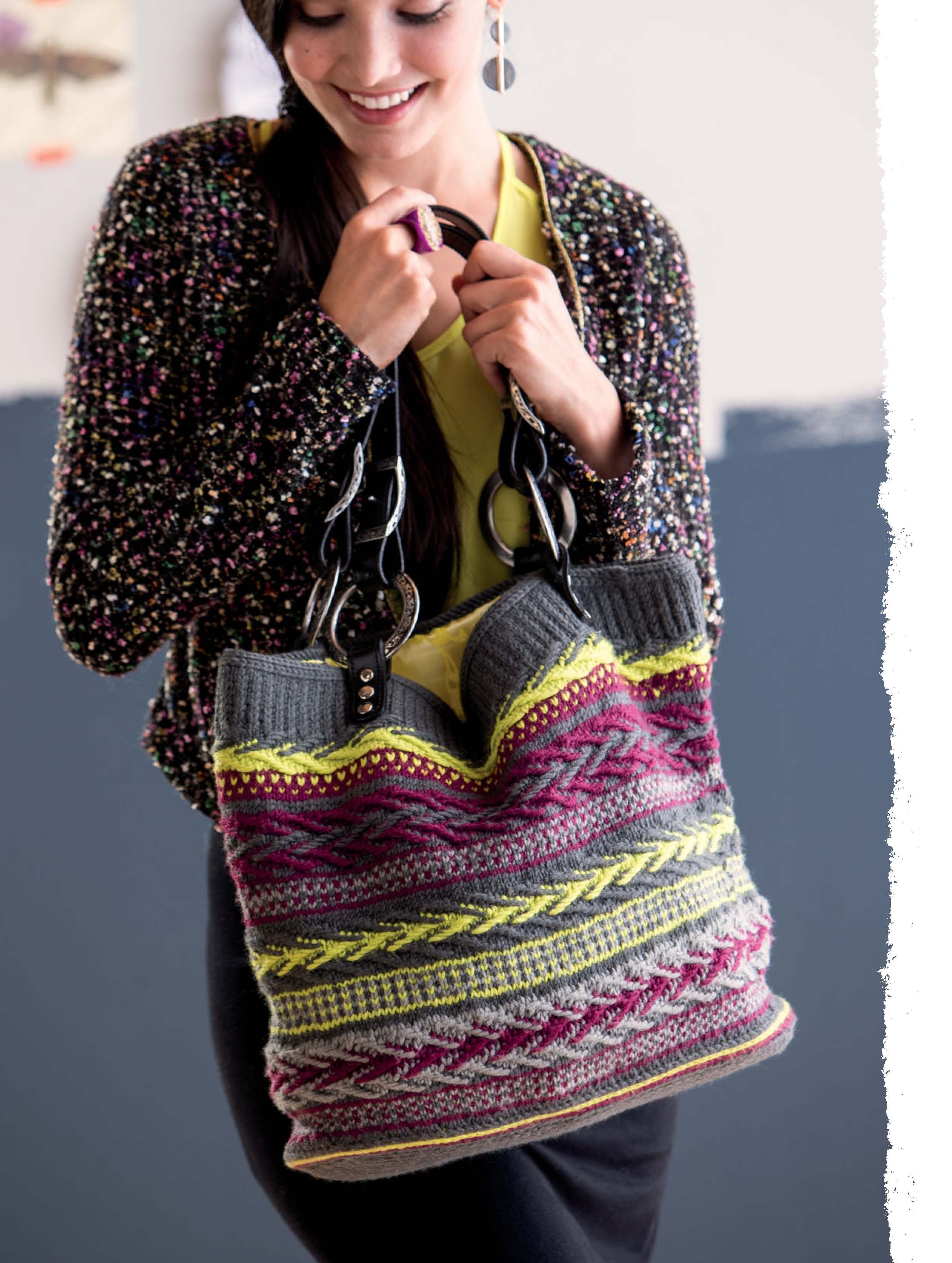 The Art of Slip-Stitch Knitting - Gobelen Bag beauty image