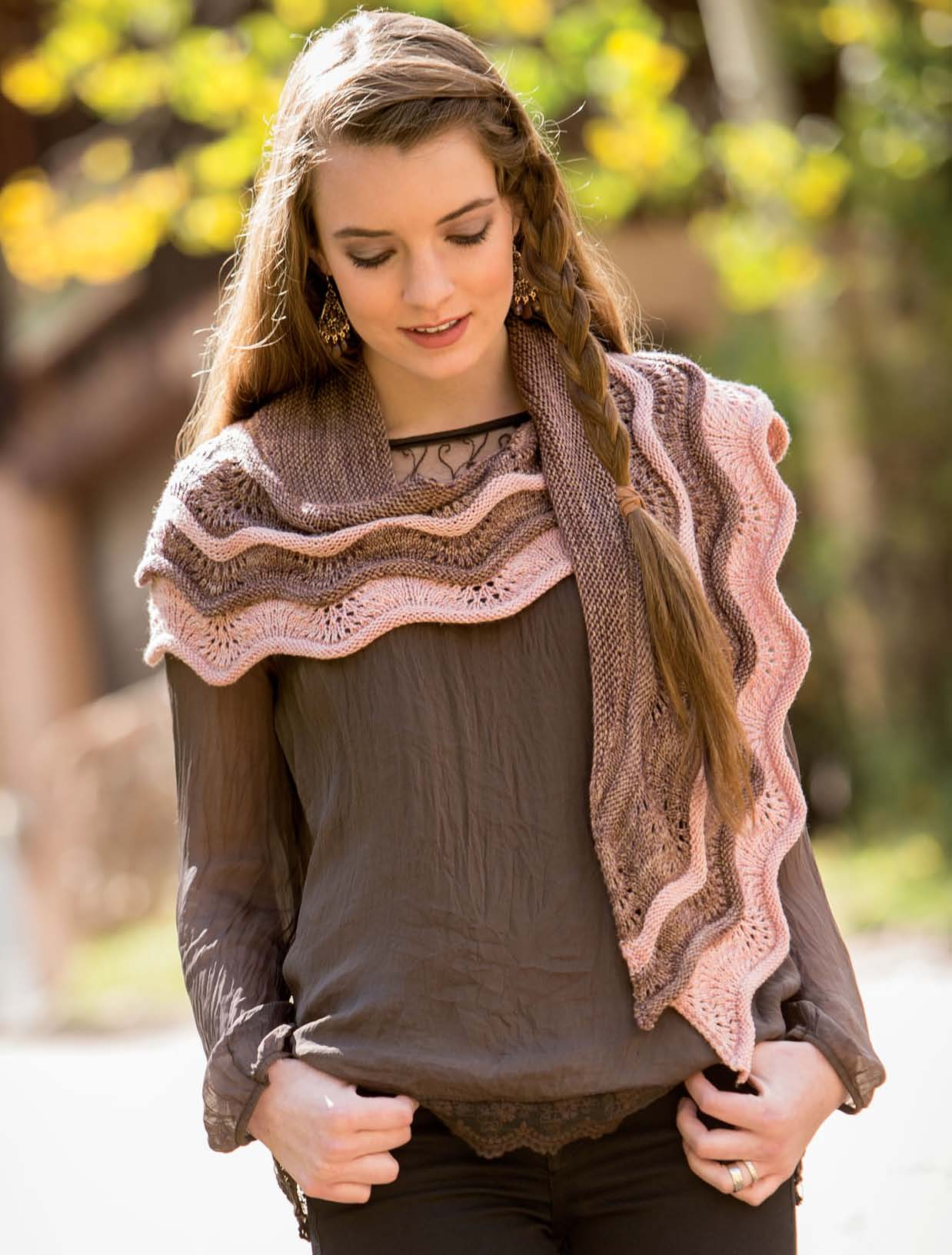 New Lace Knitting - Neoma's Shawl interior beauty image