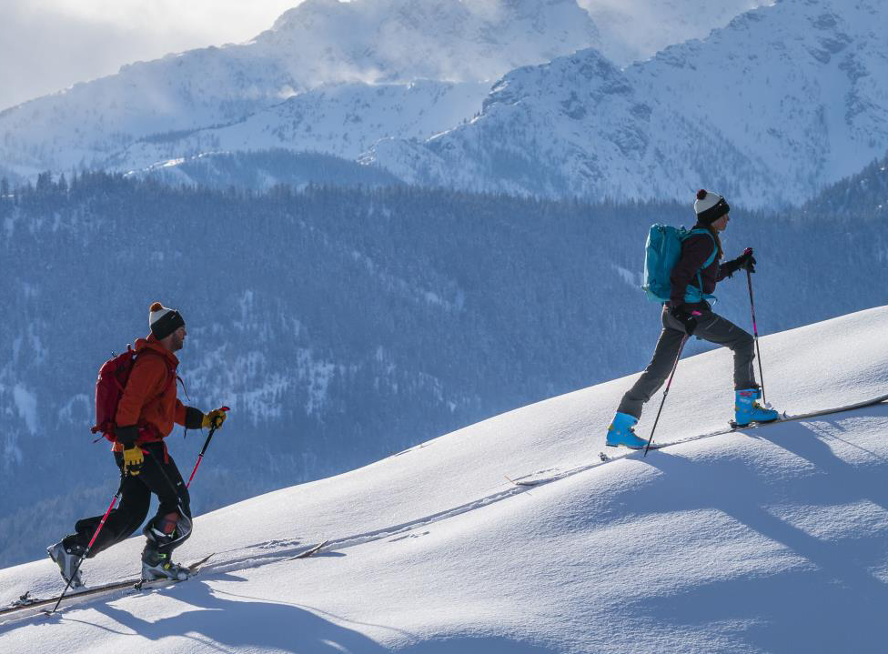 The Best U.S. Resorts to Try Uphill Skiing -