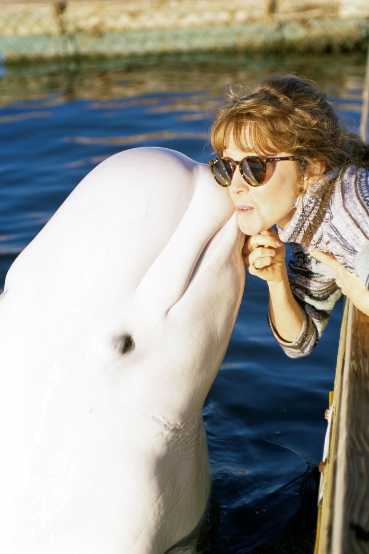 Ceci and her Beluga buddy