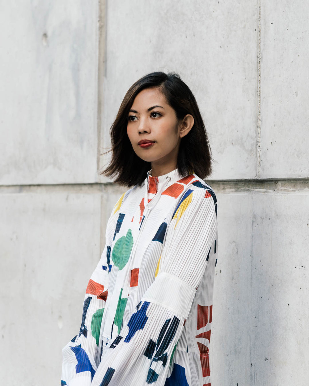 Jaya Gascon, in H&M Studio Dress. 2018.