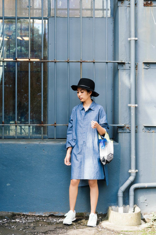 Zara dress, New Balance shoes