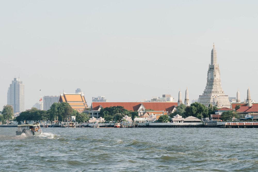 Chao Phraya River, overlooking Wat Arun Temple