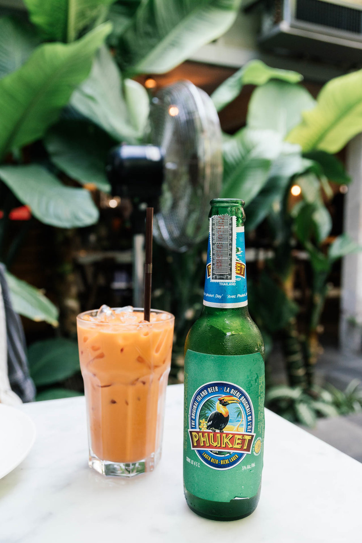 Thai Iced Tea and Phuket Beer