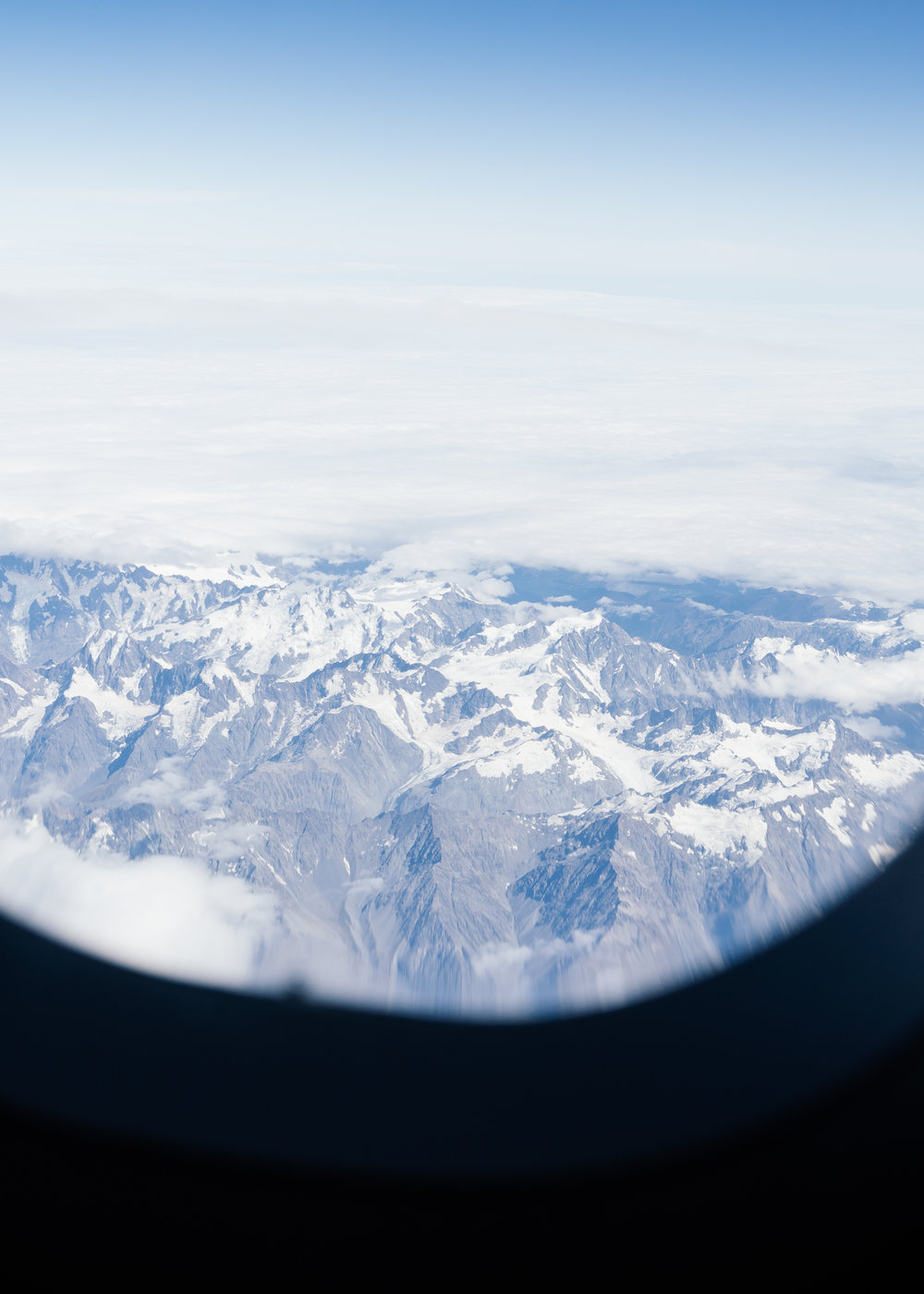 Snow never leaves Queenstown. Even in high summer, the mountain tops sprinkled white makes for a stunning view from the window seat.