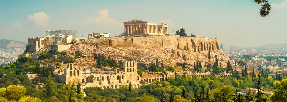 The iconic Acropolis Hill and Parthenon