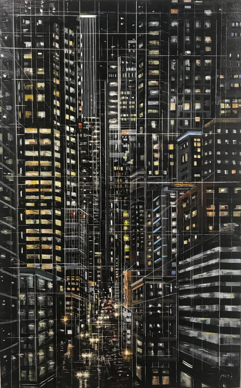 City Darshan 22 46x29in acrylic on panel 2018.JPG