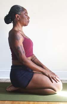 recover in vadrasana & lengthen low back.