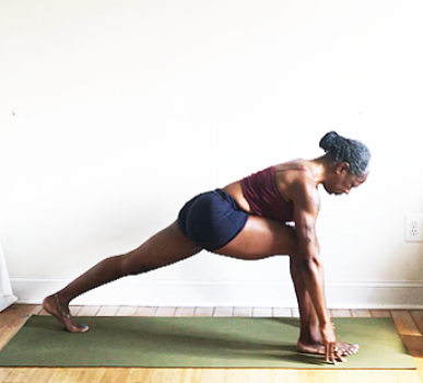 ashwa sanchalanasana. (low lunge pose)