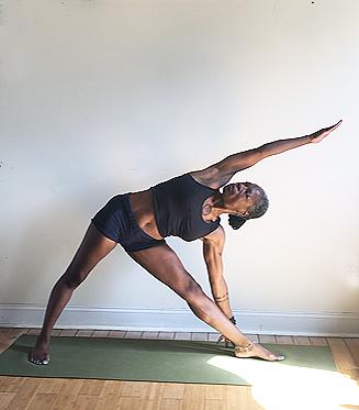 utthita trikonasana. (triangle pose variation) front knee straight, but not locked.
