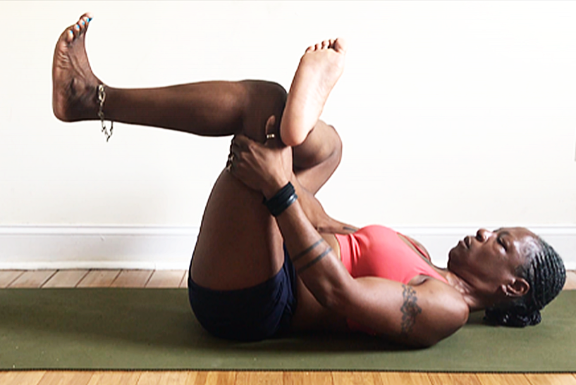 OR try pigeon pose on your back. ankle over opposite knee & flex feet.