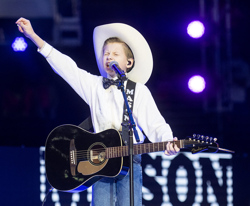 Mason Ramsey performs during Penn State's THON in the Bryce Jordan Center on Saturday, Feb. 16, 2019.