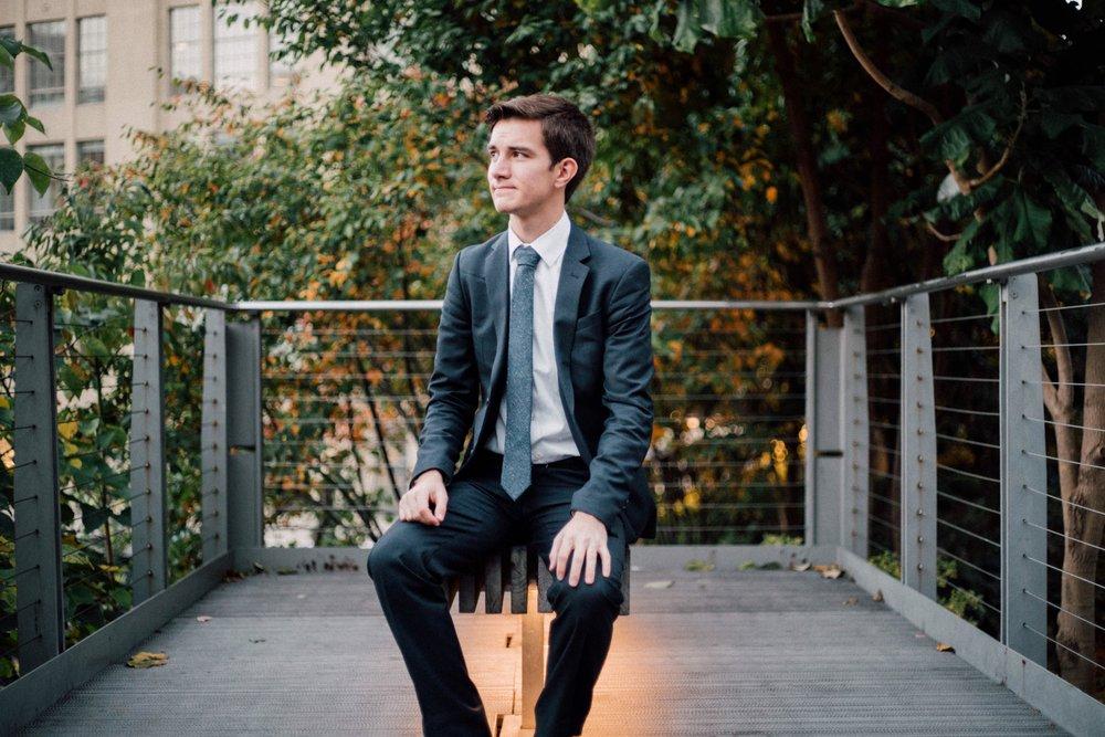 Self portrait taken in Manhattan.