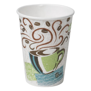 The Coffee - An artist always has coffee, but for the disheveled look, I always go with portable Dixie™ Cup.Just as effective as a stainless steel travel mug, but shows that you didn't have as much time that morning to finesse the coffee presentation.
