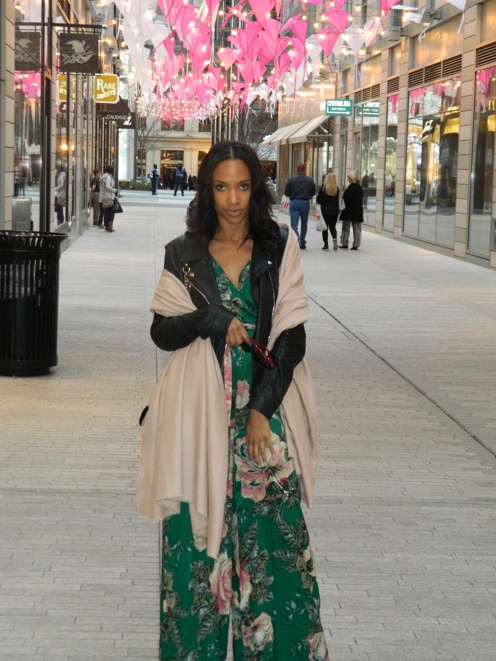 Morgan: Jacket | ZARA Jumpsuit | Free People Bag | Gucci