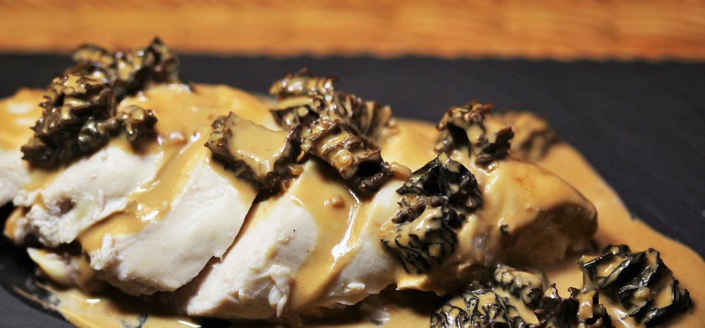 Morel sauce on chicken breast.JPG