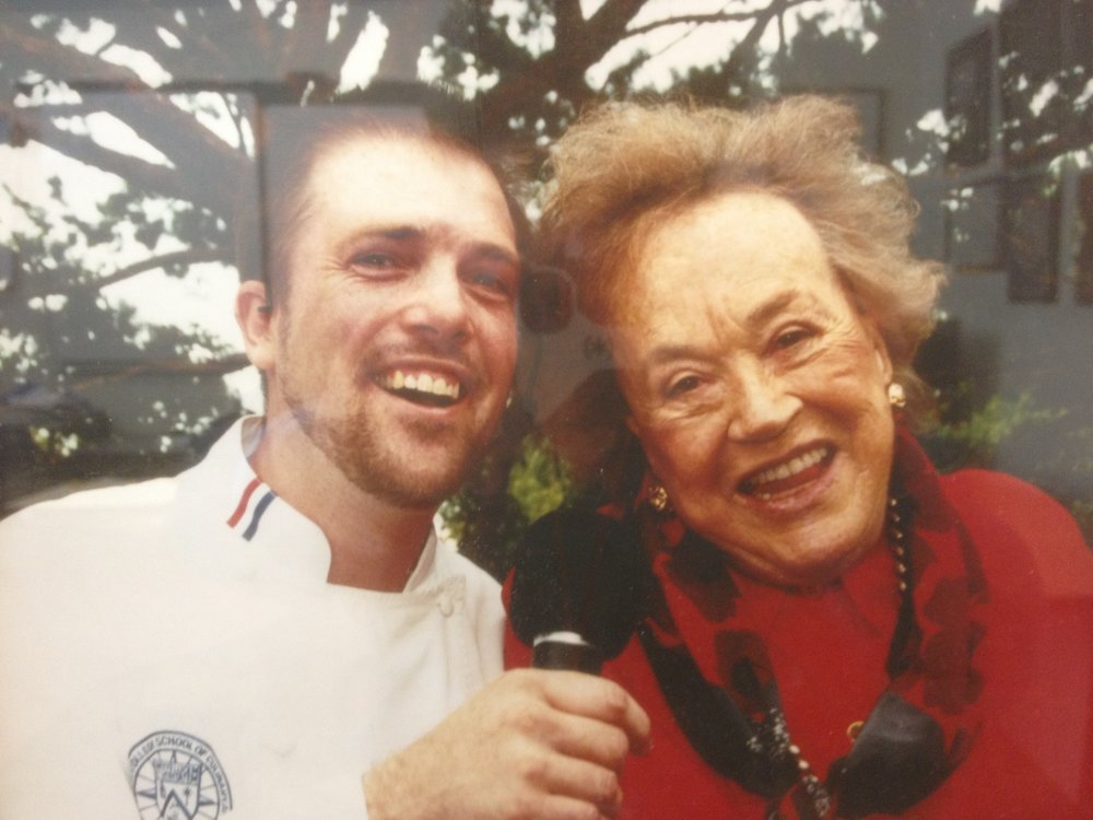 Chef and this idol, Julia Childs