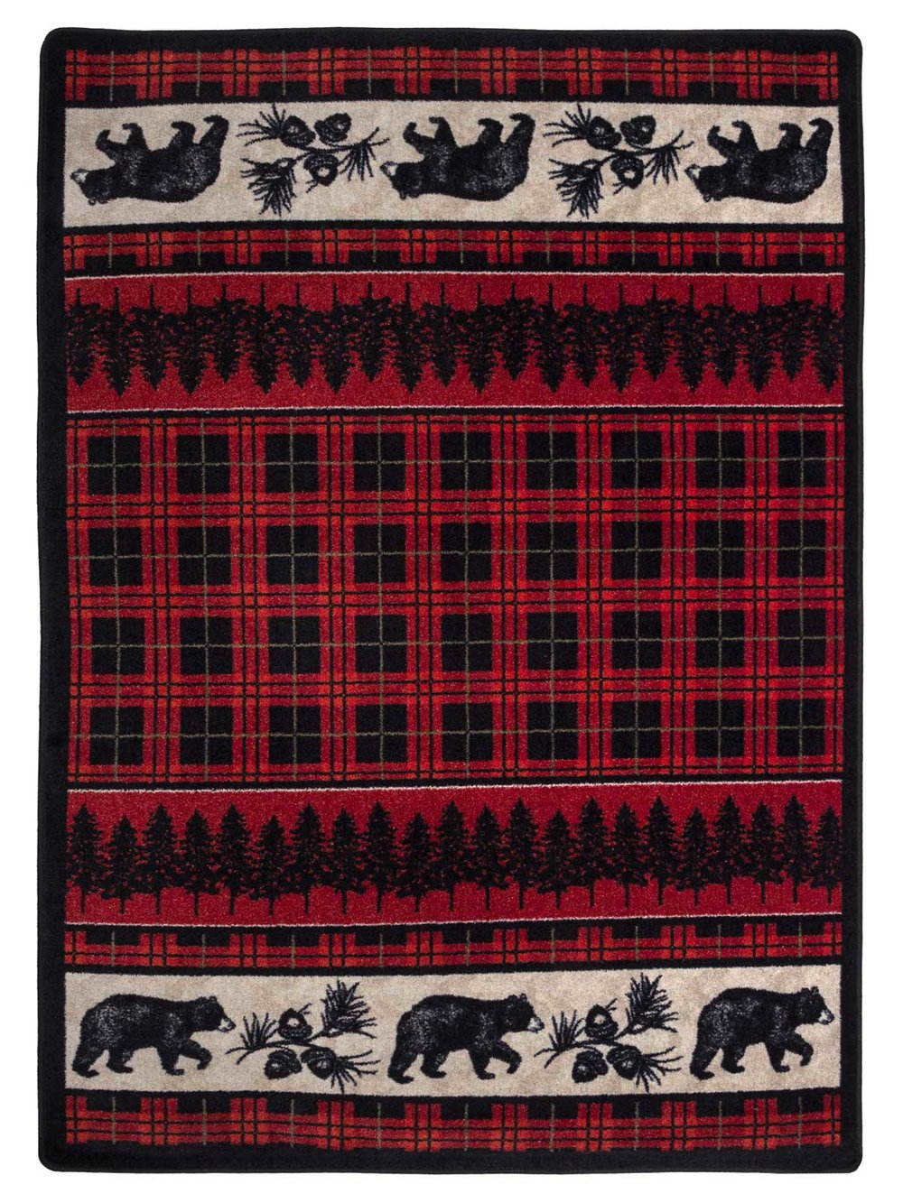 Mad Plaid Bears BFX - Red Plaid