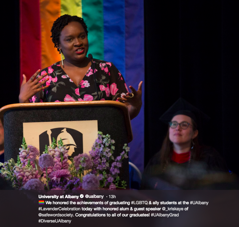 Keynote | 2018 Lavender Commencement Celebration at The University at Albany - SUNY