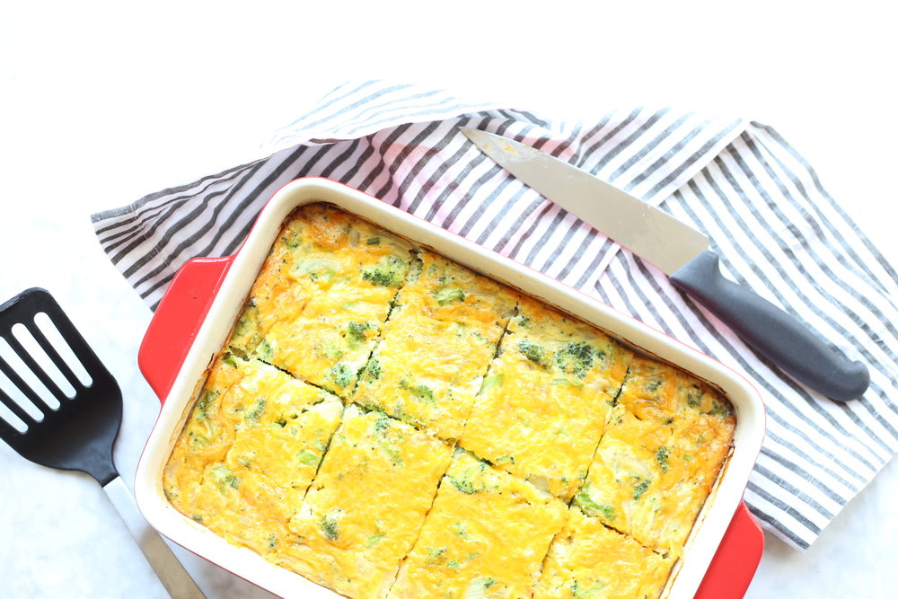 Broccoli Cheddar Egg Casserole