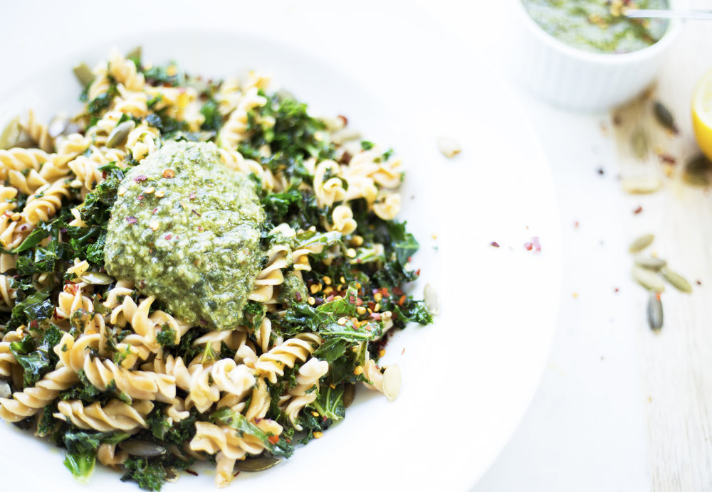 The easiest cheese-free, dairy free pesto