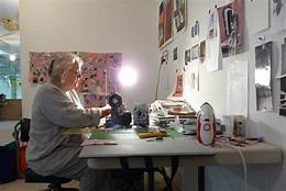 Bonnie Hull was my neighbor in Project Space... influencing me with line + color