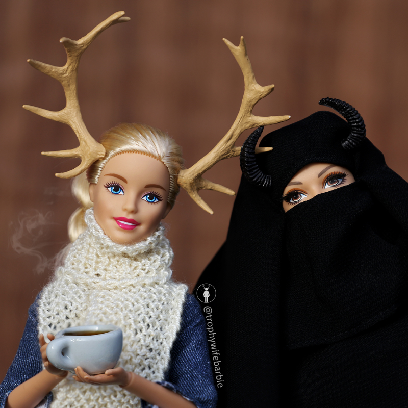 I love catching up with my friend, Surayyah ❤️ We always have such interesting and diverse discussions - today we tried to guess what percentage of people don't know it's possible to see womething on Instagram they disagree with and just move on with their lives #TrophyWifeBarbie #shitjustgotreal