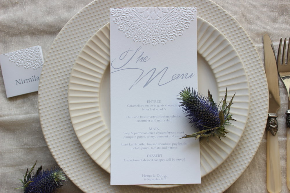 - Available as a full set of event stationery for your wedding day.Love the design? Want to customise it a little more? Ask about our bespoke design service.