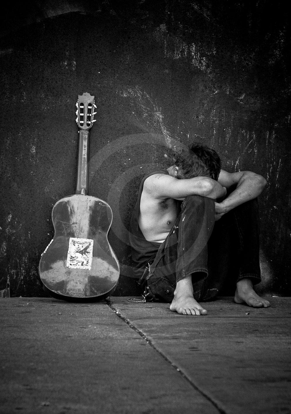 "Guitar Player ""A Struggle"""