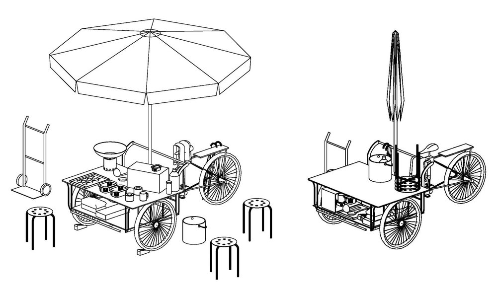 figure 2: Before and after set-up (method of assembling and dismantling)