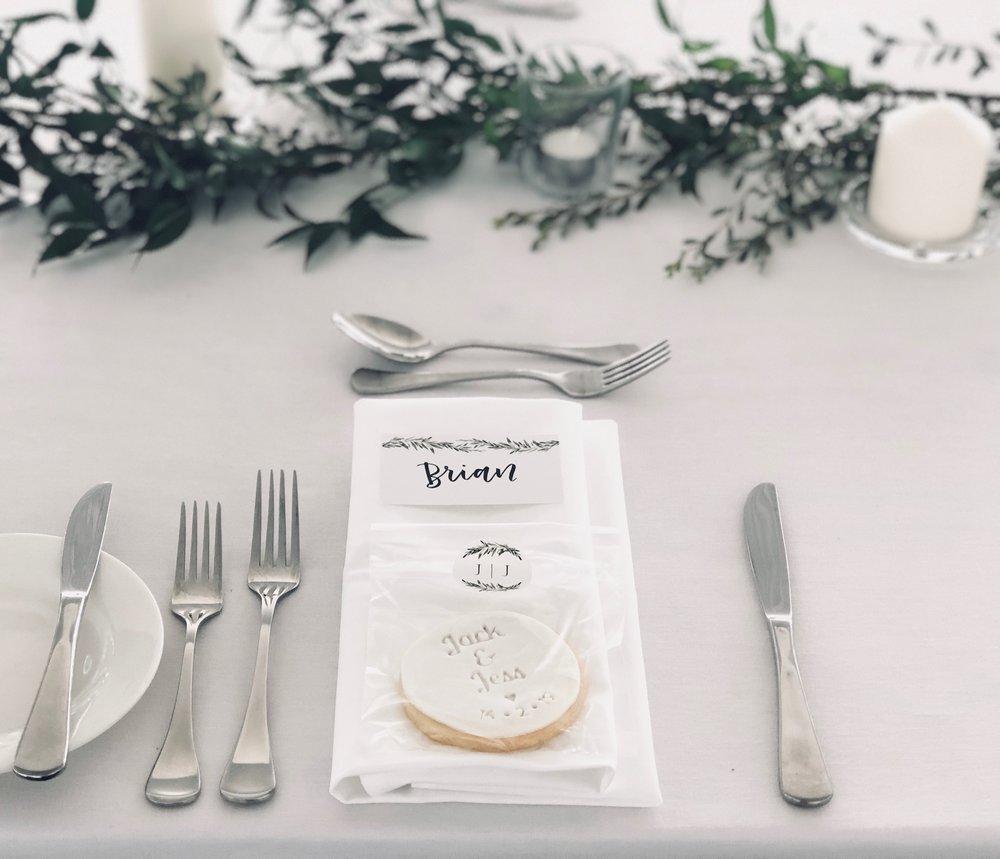 Stylish and simple wedding place setting.JPG