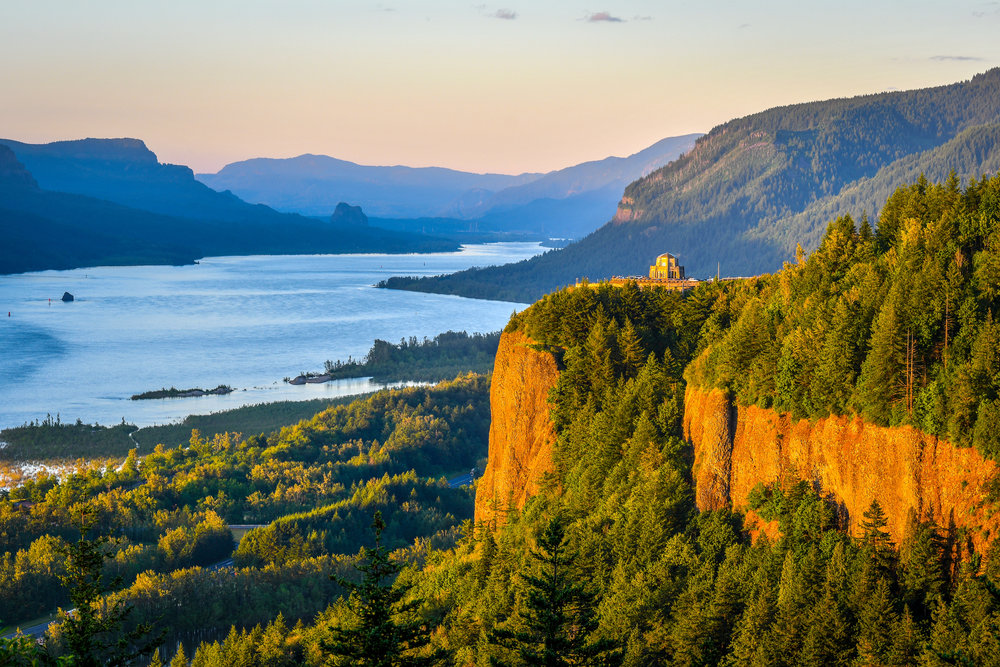 The Columbia River Gorge National Scenic Area is the result of volcanic upheavals and dramatic raging floods.