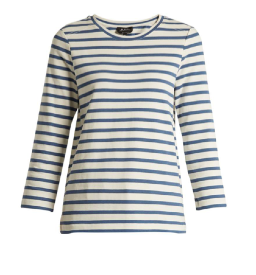 11. SOMETHING STRIPED -  A.P.C Striped Tee