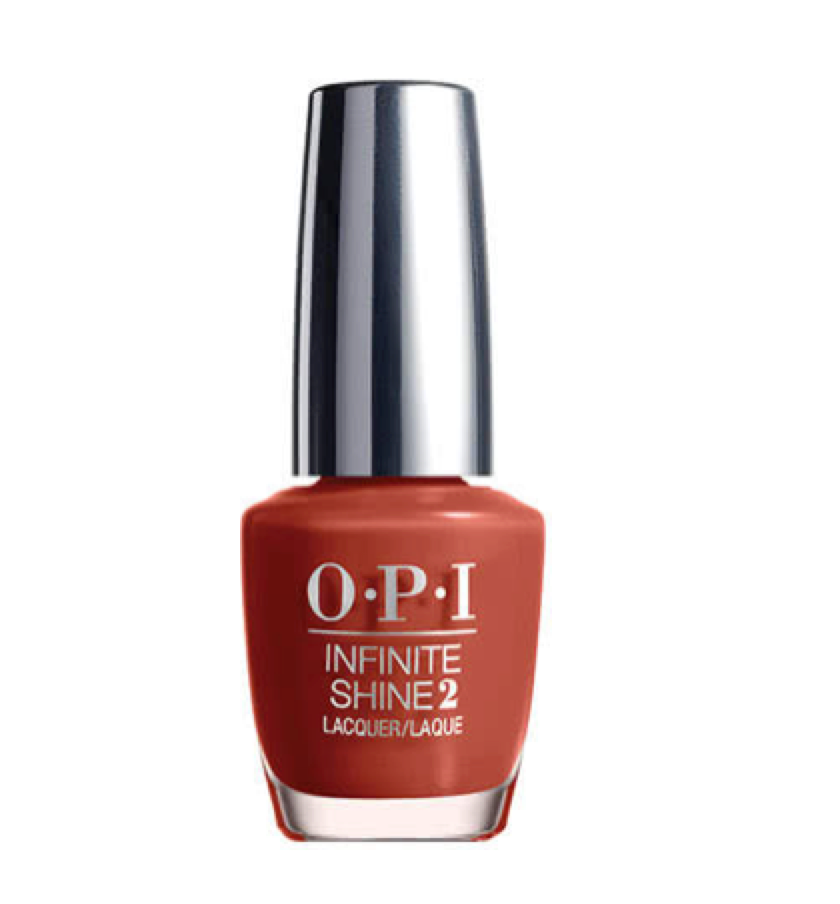 OPI -  Infinite Nail Polish    I am really loving earthy tones for my nails and this terracotta is my fav.