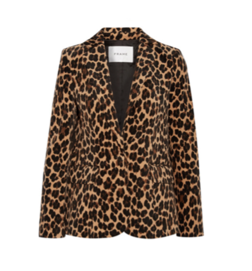 FRAME -  Animal print blazer UNDER $800