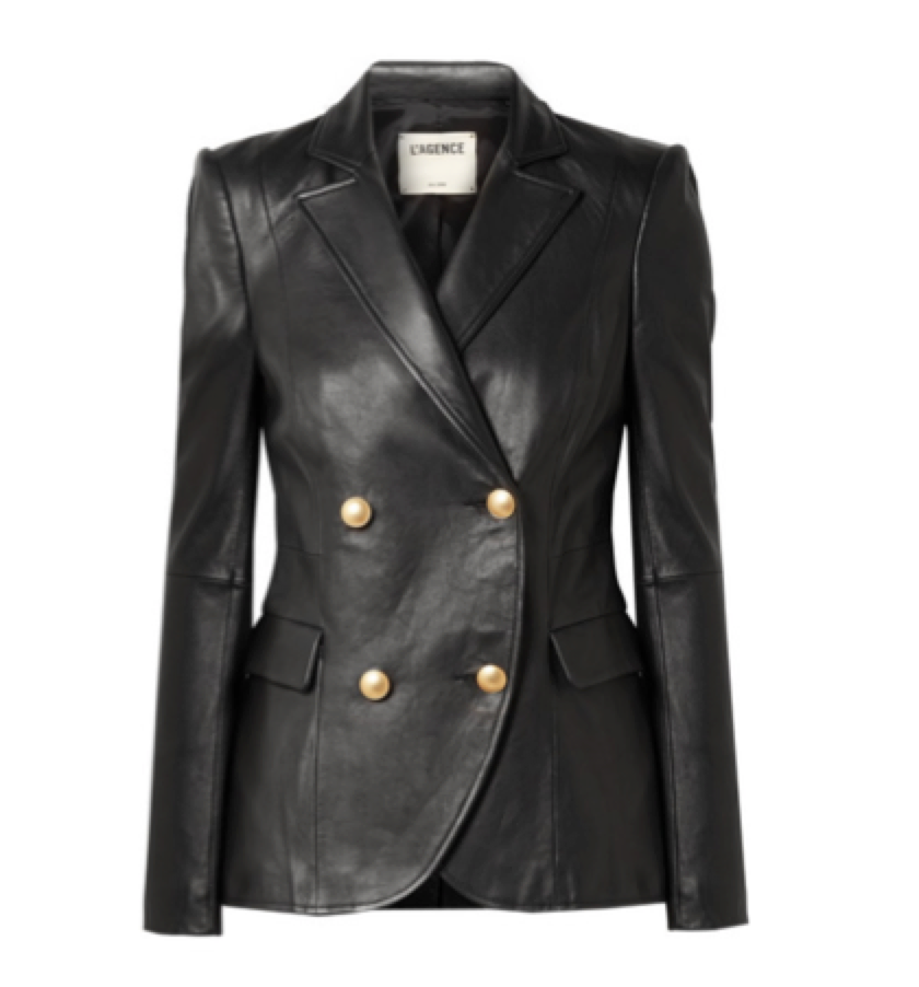 L'AGENCE -  Leather blazer