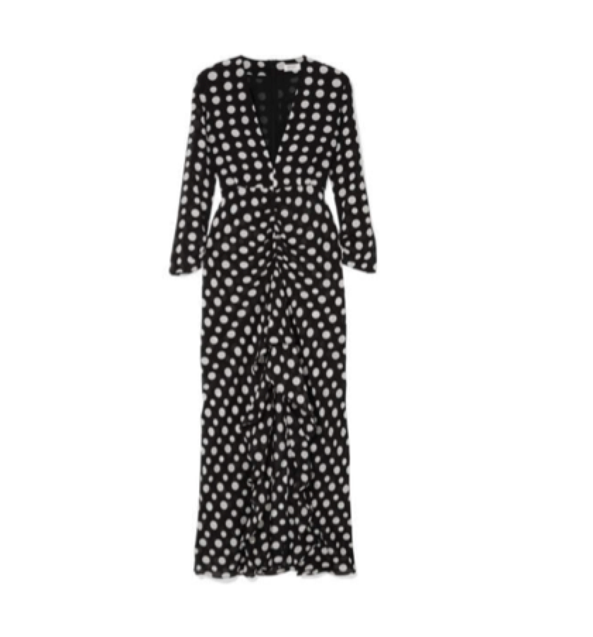SOMETHING SPOT / RIXO -  Spot Rouched Dress