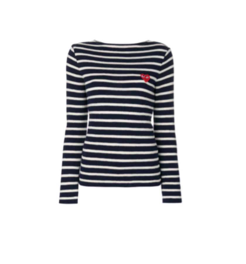 STRIPED L/S TEE / COMME DES GARCONS -  Striped Knit