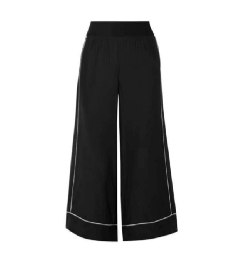 BLACK PANT / ATM -  Wide Leg Pants
