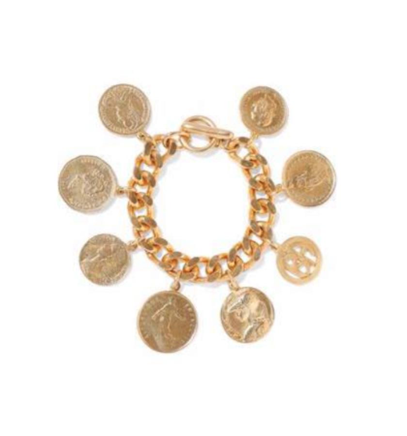 1. CHUNKY JEWELLERY -BEN AMUN -  Coin Bracelet