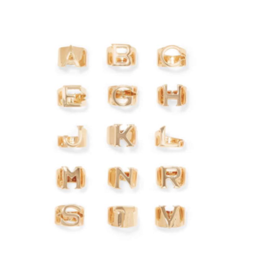 6. STATEMENT RING - CHLOE -  Letter Ring