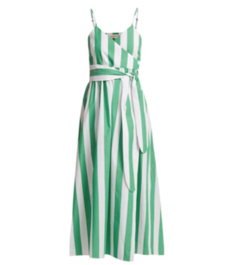 MARA HOFFMAN - stripe wrap dress