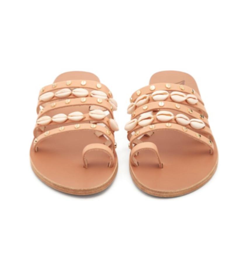 ANCIENT GREEK SANDALS -  shell-embellished sandals