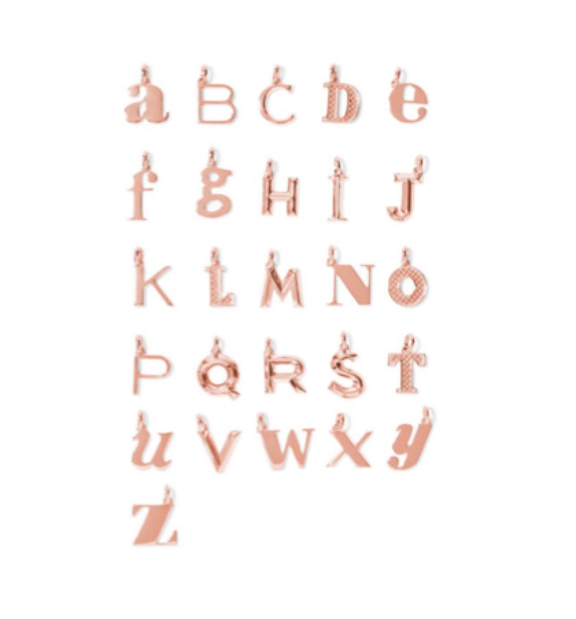 MONICA VINADER -  alphabet letter rose gold pendants