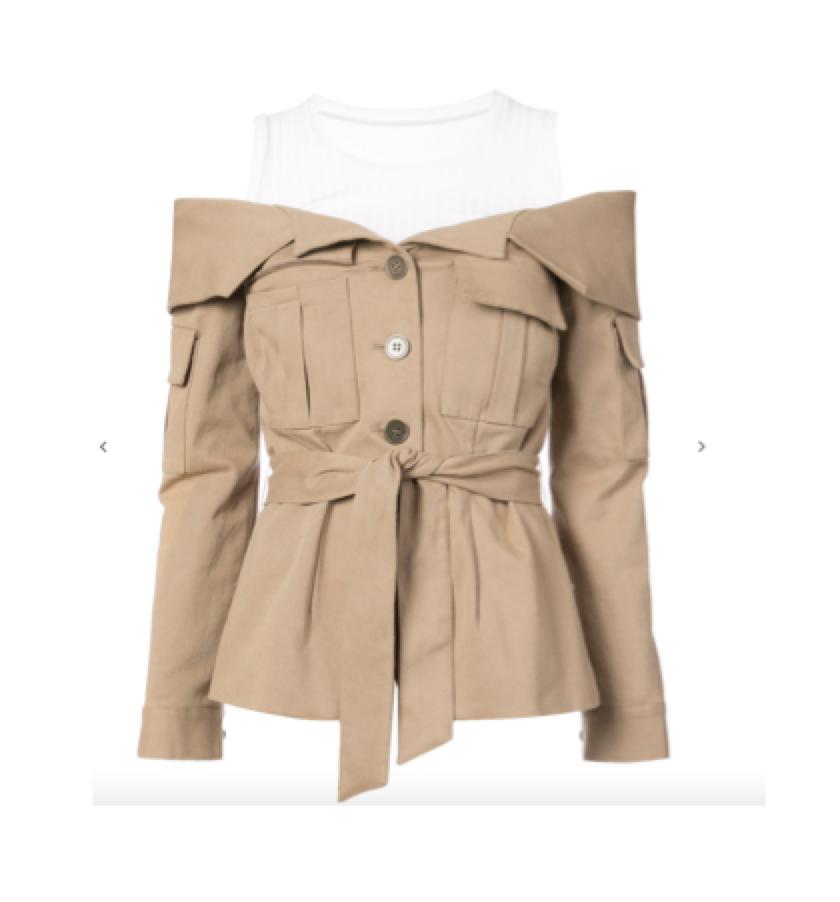 NICOLE MILLER - off-the-shoulder jacket