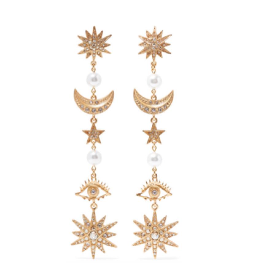 OSCAR DE LA RENTA -  moon & eye earrings