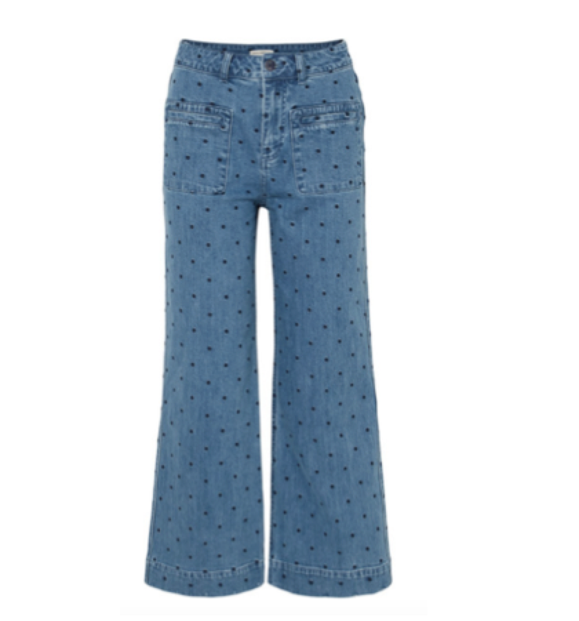 ULLA JOHNSON -  spotted jeans
