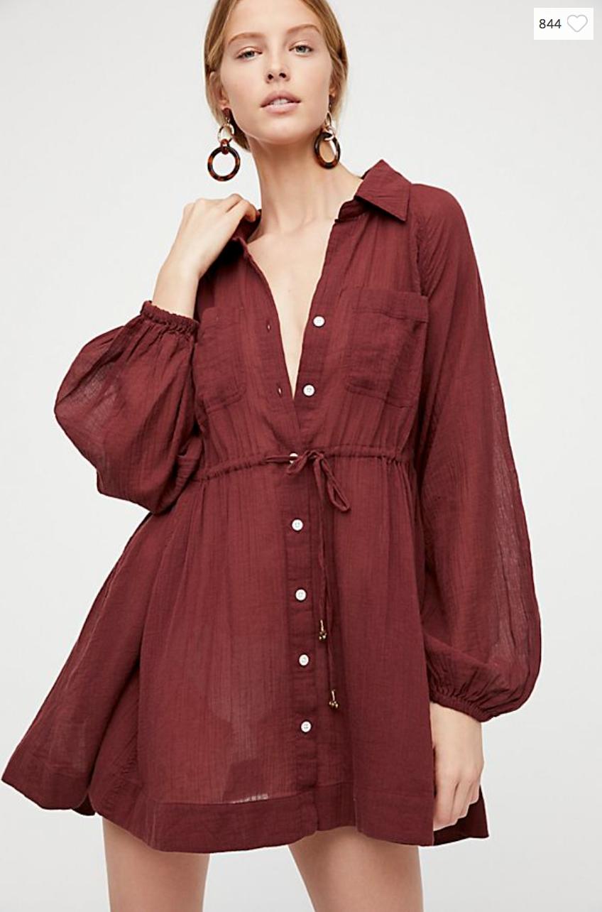 OVERSIZED SHIRT DRESSES
