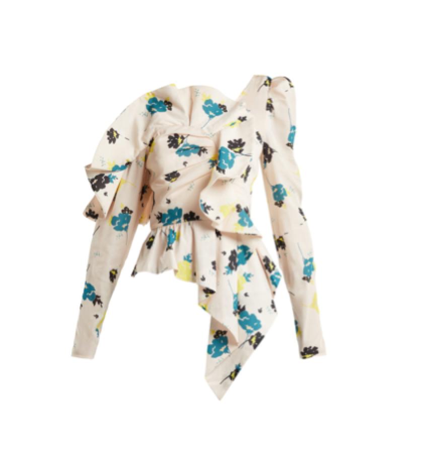 SELF PORTRAIT -  Floral top